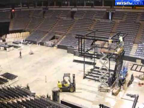 Timelapse: New Scoreboard Installed At The Bradley Center