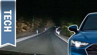 HD Matrix LED-Scheinwerfer mit Laserlicht im Audi A7 im Test (Nachtfahrt, Regen & Nebel)