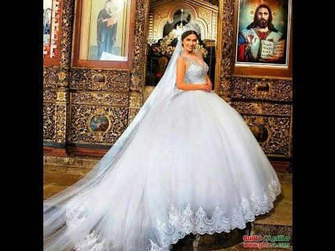 957ee20a8efb4 اجدد فساتين افراح 2017 - مجموعة متميزة من فساتين منفوشة افراح يوم الزفاف  للبنات من ليدي فاشون