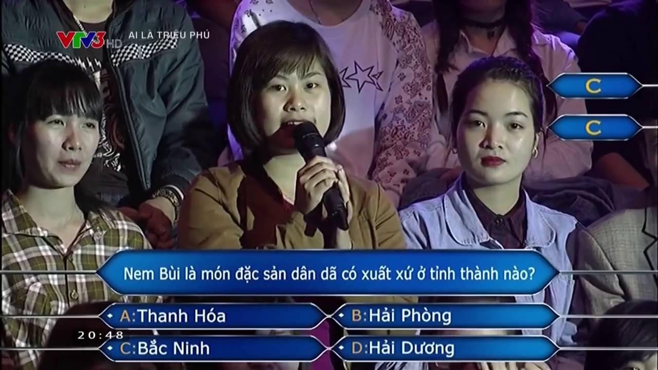 ai là triệu phú 7/6/2016 -đặc sản Bắc Ninh