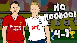 🎤NO HOODOO! 4-1🎤 Spurs vs Liverpool (Parody Cartoon 2017)