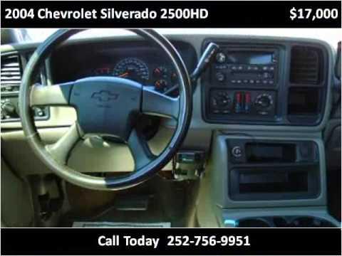 2004 chevrolet silverado 2500hd used cars greenville nc youtube. Black Bedroom Furniture Sets. Home Design Ideas