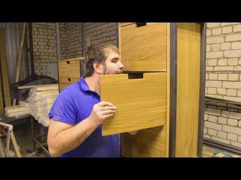 Процесс изготовления прихожей в стиле Loft . Делаем копию мебели по фотографии. Проект 255.