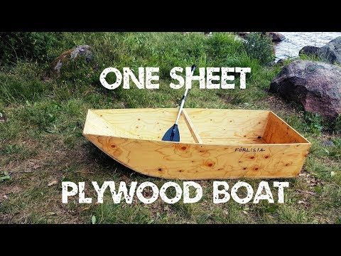 How I made a one sheet plywood boat