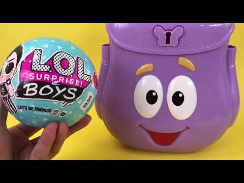 dora-carry-case-+-lol-surprise-eggs-toys-|-itsplaytime612