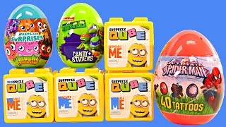 NEW Surprize Cubes Despicable Me Qube Spiderman Teenage Mutant Ninja Turtles Surprise Eggs DCTC Toys