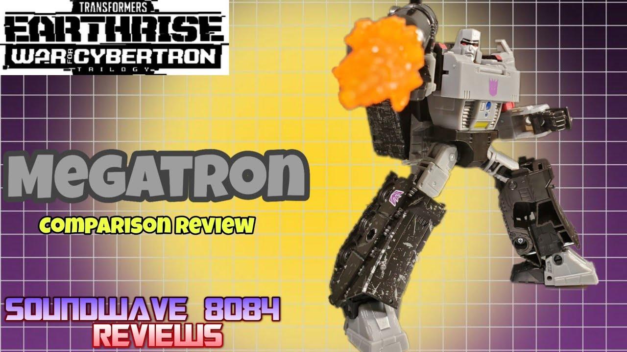 Transformers WFC Earthrise Megatron Vs Siege Megatron Review By Soundwave 8084