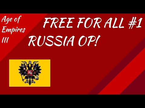 Free For All #1 Russia is Too Good! AoE III