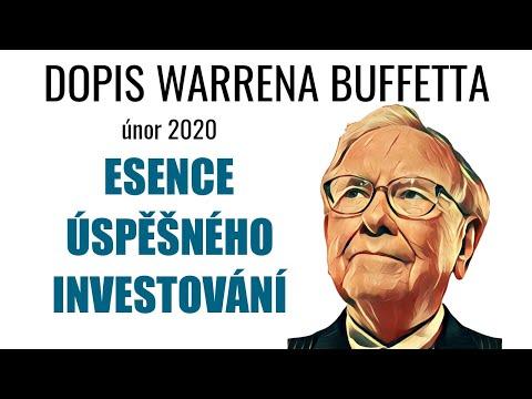 Dopis Warrena Buffetta: Esence úspěšného investování
