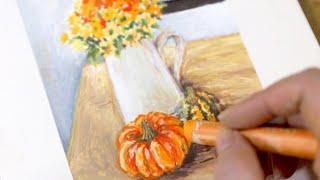 가을분위기에 어울리는 정물화 오일파스텔로 그려보기 / …