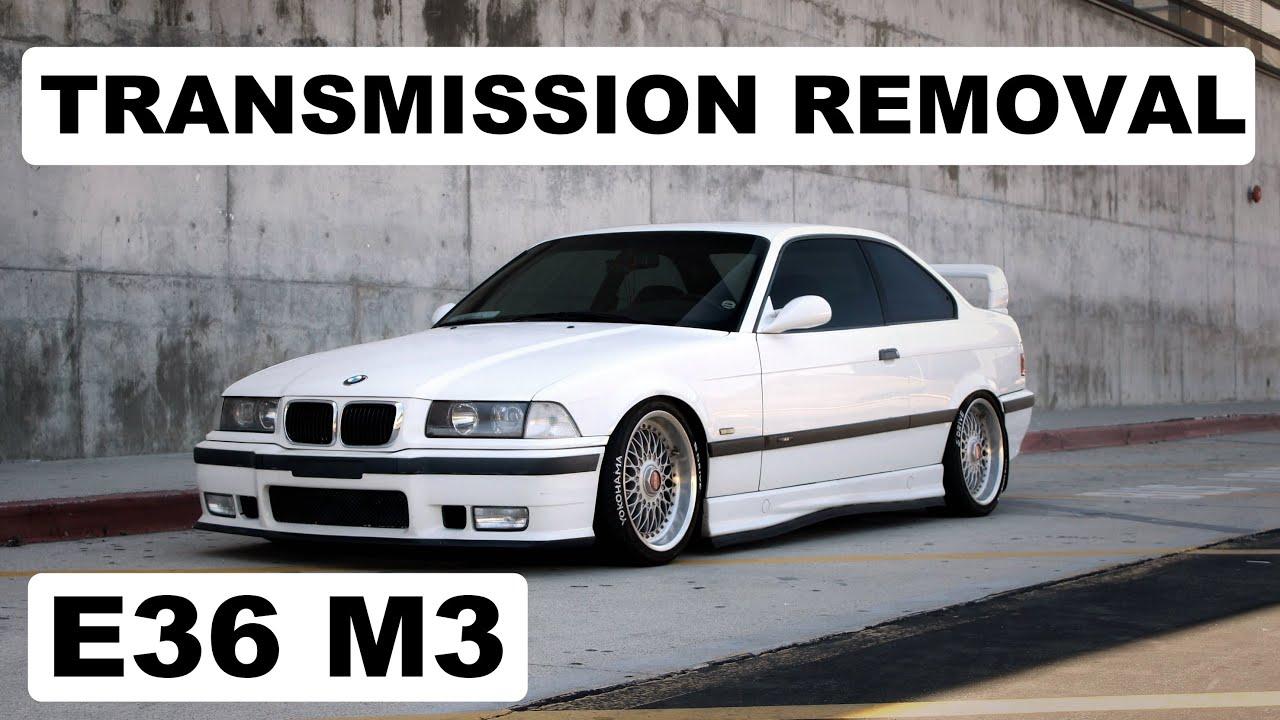 medium resolution of bmw e36 m3 3 series 1990 2000 manual transmission removal diy