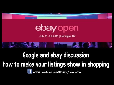 Ebay open 2019 - Day 3 - Google Placement and listing visibility panel discussion