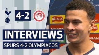 PLAYER REACTION | DELE ALLI AND HARRY KANE ON OLYMPIACOS WIN | Spurs 4-2 Olympiacos
