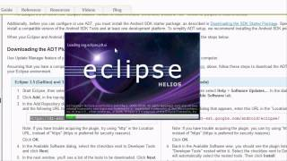Android Tutorial & Lessons 1: Installing Eclipse and SDKs