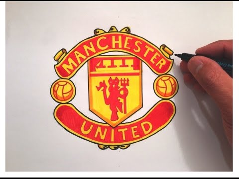 How to draw Manchester united logo.