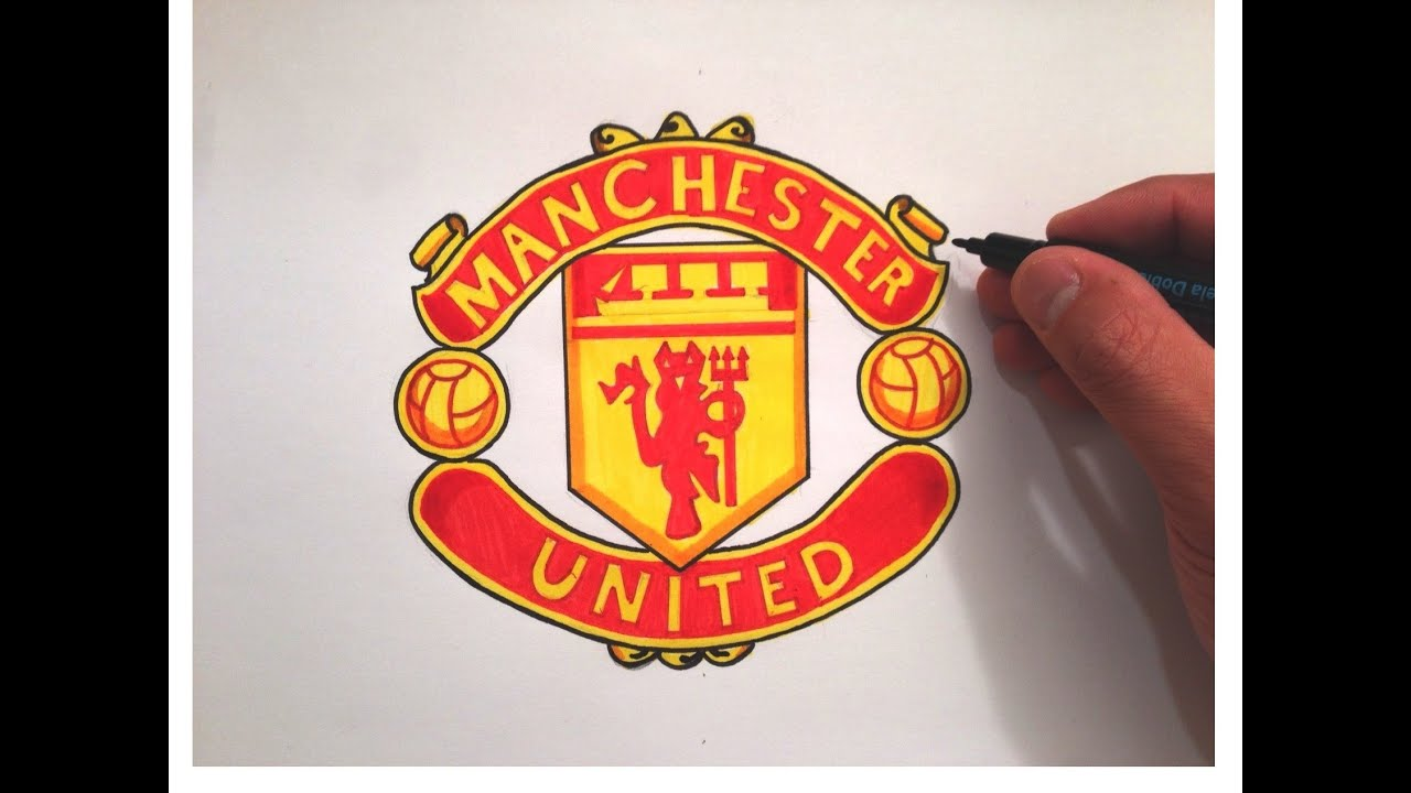 How To Draw The Manchester United Logo Youtube