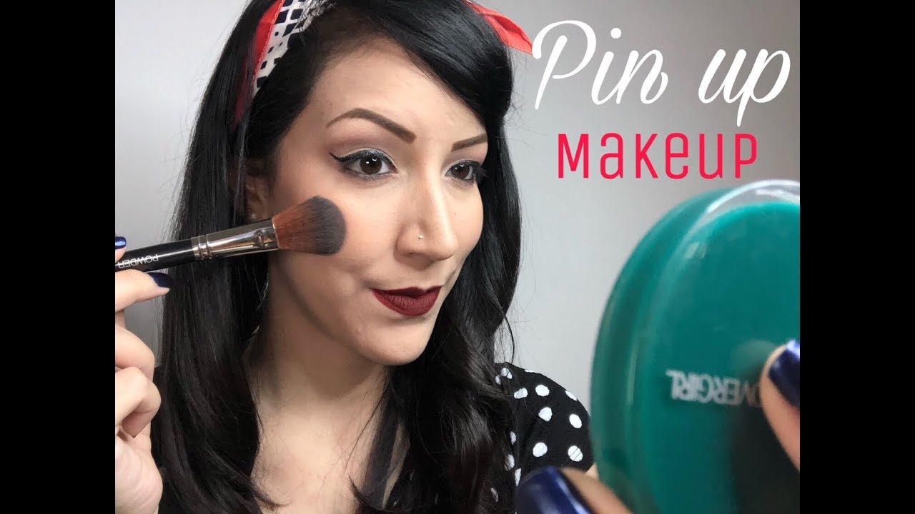 maquillaje pin up pin up makeup youtube. Black Bedroom Furniture Sets. Home Design Ideas