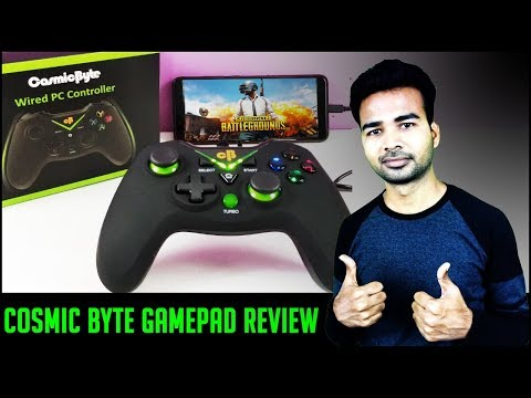 Cosmic Byte Wired PC Controller Unboxing and Review on Android Smartphone | HINDI