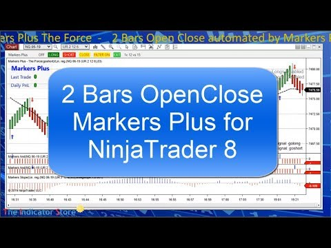2 Bars OpenClose filtered by Linear Regression - Markers for NinjaTrader 8