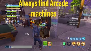 Fortnite Save the world how to find Acade Machines