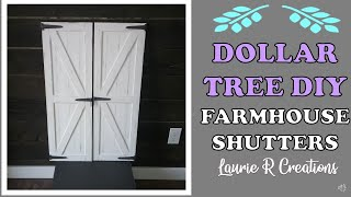 DOLLAR TREE DIY FARMHOUSE SHUTTERS