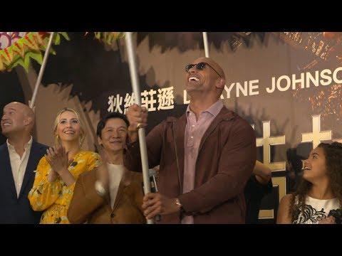 Skyscraper Hong Kong Premiere Red Carpet - Dwayne Johnson, Neve Campbell