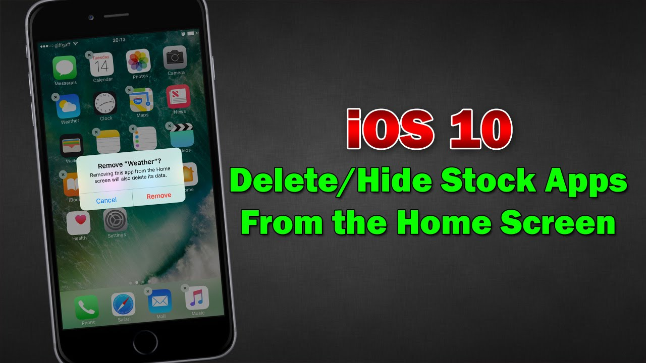 Hide Stock Apps From The Home Screen (demo)