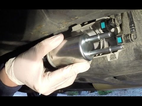 2003 2004 Ford Expedition Fuel Filter Replacement Youtube border=