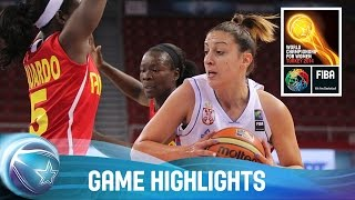 Serbia v Angola - Game Highlights - Group D - 2014 FIBA World Championship for Women