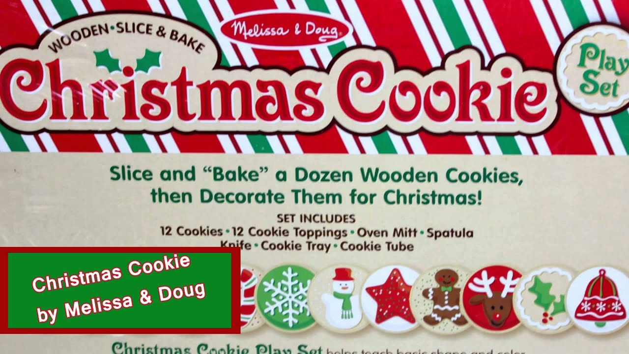 Christmas Cookie Play Set by Melissa & Doug LCI-5158 - YouTube