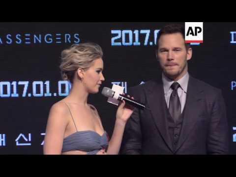 Jennifer Lawrence and Chris Pratt premiere 'Passengers' in South Korea