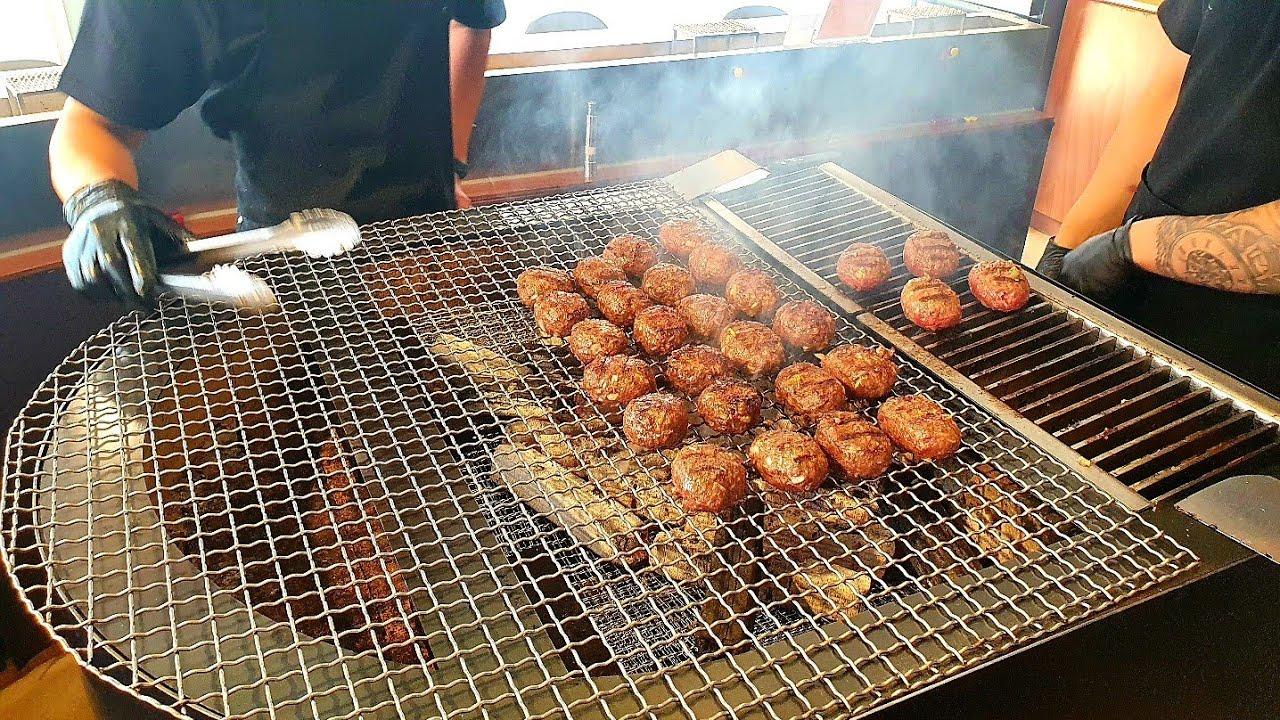 독특한 수제 떡갈비로 대박났죠! 초대형 그릴에 굽는 퓨전 숯불 떡갈비정식 Amazingly popular hamburger steak dish - Korean street food