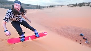 Snowboarding on Sand!!