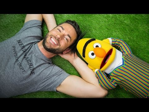 A Lovely Sunny Day  Zachary Levi and Bert From Sesame Street  Mashable