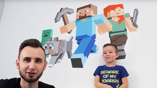 Jak malować na ścianie bez talentu i umiejętności | MINECRAFT