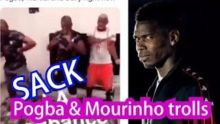 Pogba and Mourinho trolls after the sack Manchester United
