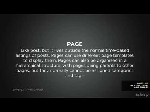 008 Concepts  Definitions What are post types