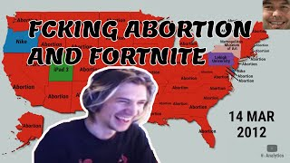 xQc reacts to Top Trending Google Searches in Every US State Throughout the 2010s by V1 Analytics