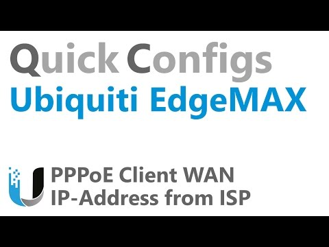 QC Ubiquiti EdgeMAX - PPPoE Client WAN IP Address from ISP - YouTube