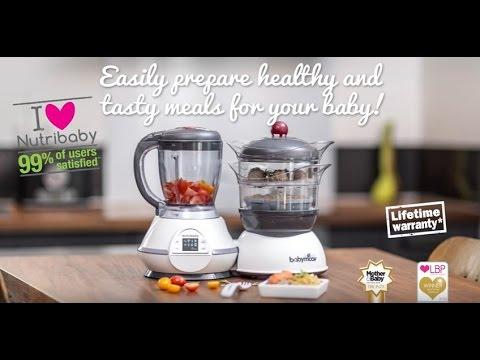 Babymoov Уред за готвене с двойна функция Nutribaby Cream #xtwYUwNMhgE