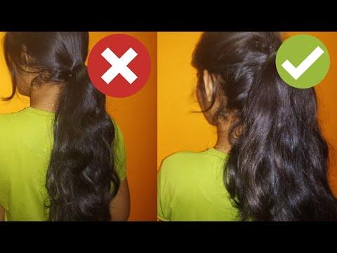 ✔മുടിക്ക് ഉള്ളു തോന്നുന്ന ponytail ഇടാൻ അടിപൊളി trick|Voluminous high pony tail hair style