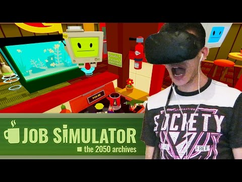STOP BURNING, STOP TOUCHING!! | Job Simulator #1 (HTC Vive Virtual Reality Gameplay)