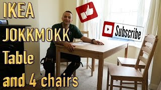 IKEA JOKKMOKK kitchen table and 4chairs.