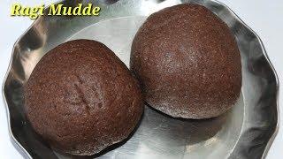 Ragi Mudde Recipe in Kannada| ಮೃದುವಾದ ರಾಗಿ ಮುದ್ದೆ | Finger Millet Ball in Kannada | Rekha Aduge