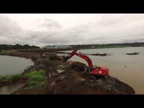 New Panama Canal Locks Meet Atlantic Ocean