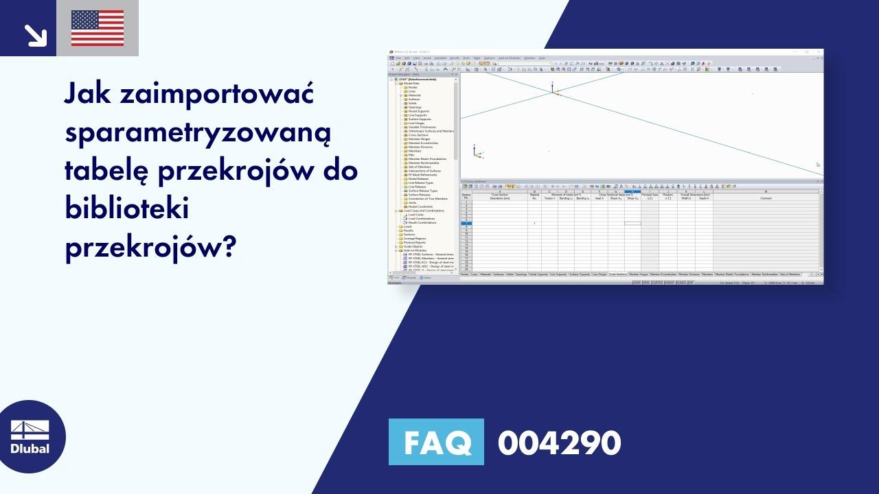 Faq 004290 Jak Zaimportować Sparametryzowane Serie Przekrojów Do Biblioteki Przekrojów