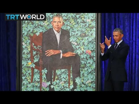 presidential-portrait:-obama-portraits-unveiled-at-smithsonian