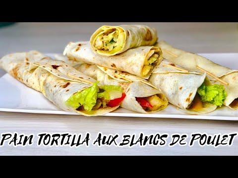 pain-tortilla-aux-blancs-de-poulet!!-recette-facile-et-rapide-pour-un-dÎner-ou-dÉjeuner