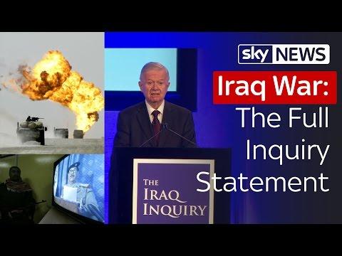 Iraq War: The Full Inquiry Statement