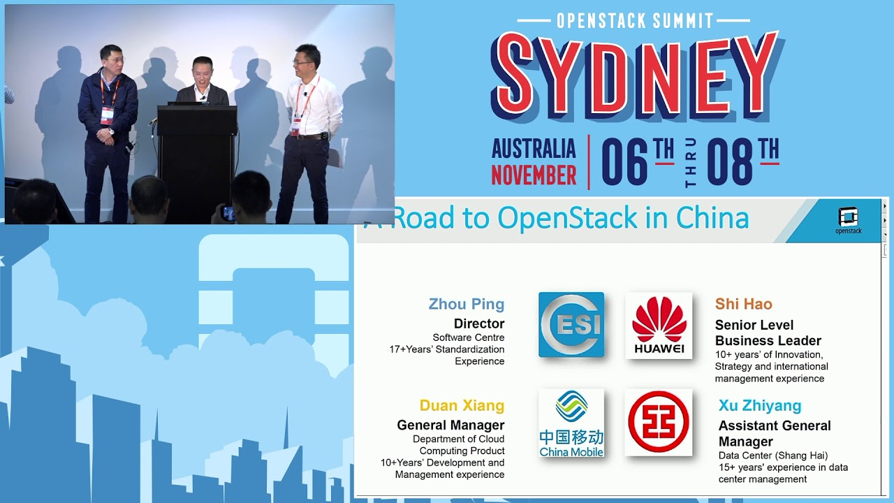 A Road to OpenStack in China | OpenStack Summit Videos